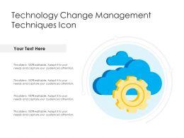 Technology Change Management Techniques Icon