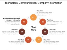 Technology Communication Company Information Ppt Powerpoint Presentation Ideas Example Cpb