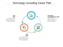 Technology Consulting Career Path Ppt Powerpoint Presentation Professional Background Cpb