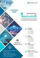 Technology Consulting Firm Two Page Brochure Template