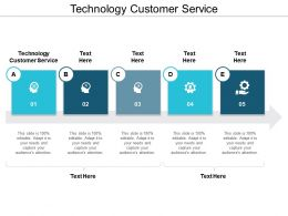 Technology Customer Service Ppt Powerpoint Presentation Gallery Picture Cpb