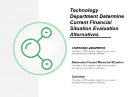 Technology Department Determine Current Financial Situation Evaluation Alternatives