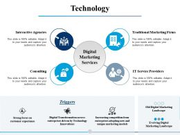 Technology Digital Marketing Services Ppt Powerpoint Presentation File Outline