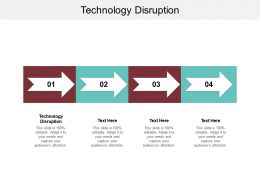 Technology Disruption Ppt Powerpoint Presentation Infographic Template Clipart Images Cpb