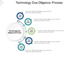 Technology Due Diligence Process Ppt Powerpoint Presentation Layouts Display Cpb