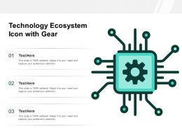 Technology Ecosystem Icon With Gear