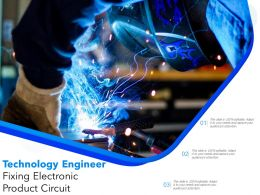Technology Engineer Fixing Electronic Product Circuit