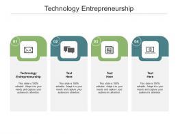 Technology Entrepreneurship Ppt Powerpoint Presentation Outline Model Cpb