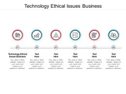 Technology Ethical Issues Business Ppt Powerpoint Presentation Infographic Template Graphics Pictures Cpb
