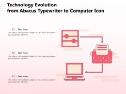 Technology Evolution From Abacus Typewriter To Computer Icon