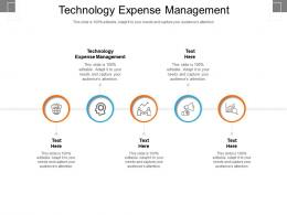 Technology Expense Management Ppt Powerpoint Presentation Inspiration Templates Cpb