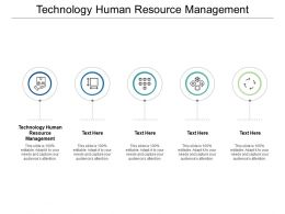 Technology Human Resource Management Ppt Powerpoint Presentation File Ideas Cpb