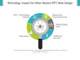 Technology Impact On Other Sectors Ppt Slide Design