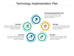 Technology Implementation Plan Ppt Powerpoint Presentation Layouts Infographic Template Cpb