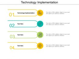 Technology Implementation Ppt Powerpoint Presentation Icon Layout Ideas Cpb