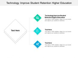 Technology Improve Student Retention Higher Education Ppt Powerpoint Presentation Layouts Images Cpb