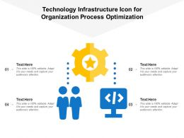 Technology Infrastructure Icon For Organization Process Optimization