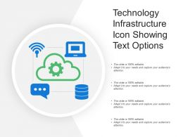 Technology Infrastructure Icon Showing Text Options
