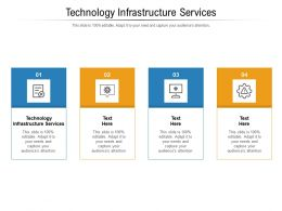 Technology Infrastructure Services Ppt Powerpoint Presentation Styles Influencers Cpb