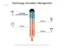 Technology Innovation Management Ppt Powerpoint Presentation Model Graphics Cpb