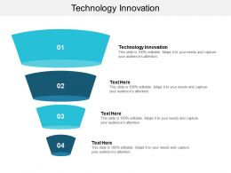 Technology Innovation Ppt Powerpoint Presentation Infographic Template Background Designs Cpb