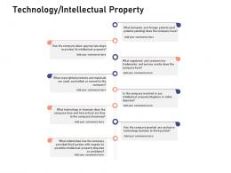 Technology Intellectual Property Investigation For Investment Ppt Powerpoint Master Slide