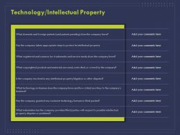 Technology Intellectual Property L1820 Ppt Powerpoint Presentation Infographic Template Display