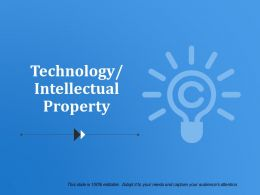 Technology Intellectual Property Powerpoint Presentation Templates