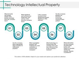 Technology Intellectual Property Ppt Gallery Graphics Tutorials