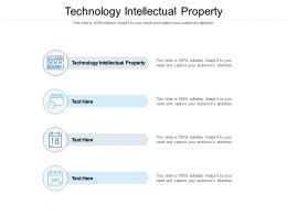 Technology Intellectual Property Ppt Powerpoint Presentation Layouts Show Cpb