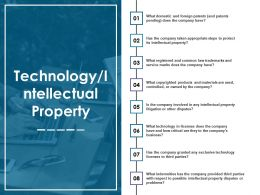 Technology Intellectual Property Ppt Slides Download