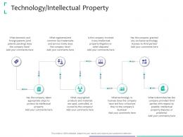 Technology Intellectual Property Strategic Due Diligence Ppt Powerpoint File Deck