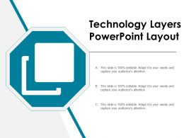 Technology Layers Powerpoint Layout