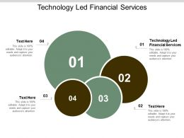 Technology Led Financial Services Ppt Powerpoint Presentation Show Slide Cpb