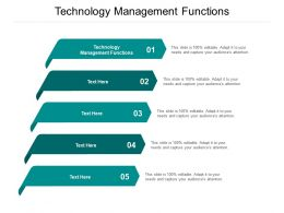 Technology Management Functions Ppt Powerpoint Presentation Model Themes Cpb