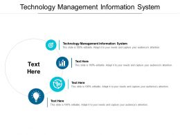 Technology Management Information System Ppt Powerpoint Presentation Ideas Summary Cpb