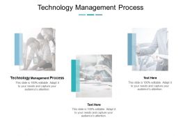 Technology Management Process Ppt Powerpoint Presentation Professional Example Cpb
