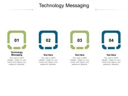 Technology Messaging Ppt Powerpoint Presentation Inspiration Ideas Cpb