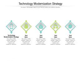 Technology Modernization Strategy Ppt Powerpoint Presentation Clipart Cpb