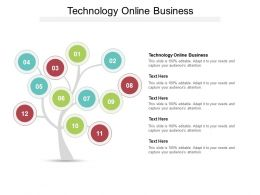 Technology Online Business Ppt Powerpoint Presentation File Brochure Cpb
