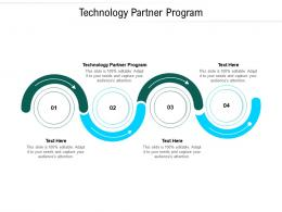 Technology Partner Program Ppt Powerpoint Presentation Slides Format Cpb