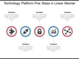 Technology Platform Five Steps In Linear Manner