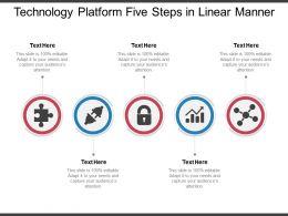 Technology Platform Five Steps In Linear Manner