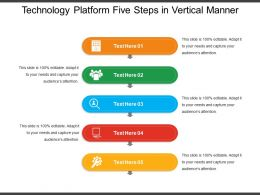 Technology Platform Five Steps In Vertical Manner