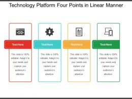 Technology Platform Four Points In Linear Manner