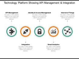 Technology Platform Showing Api Management And Integration
