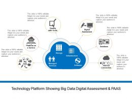 Technology Platform Showing Big Data Digital Assessment And Paas