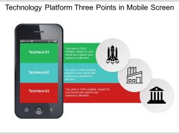Technology Platform Three Points In Mobile Screen