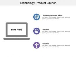 Technology Product Launch Ppt Powerpoint Presentation Inspiration Icon Cpb