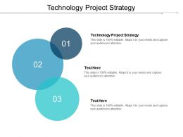 Technology Project Strategy Ppt Powerpoint Presentation Professional Clipart Cpb
